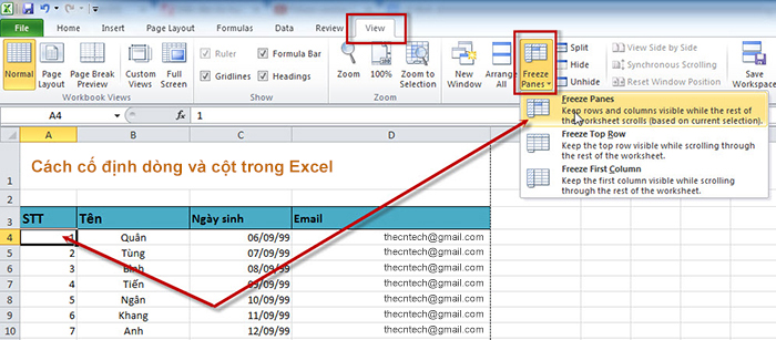 co-dinh-hang-trong-excel