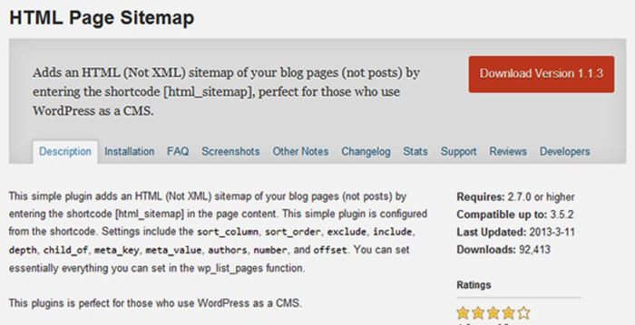 html-page-sitemap